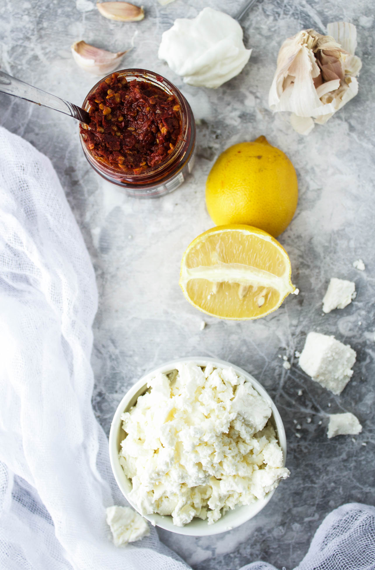 Harissa-Spiked Whipped Feta Dip