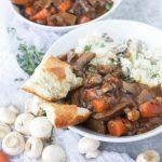 30 Minute {Vegan} Portobello Mushroom Bourguignon
