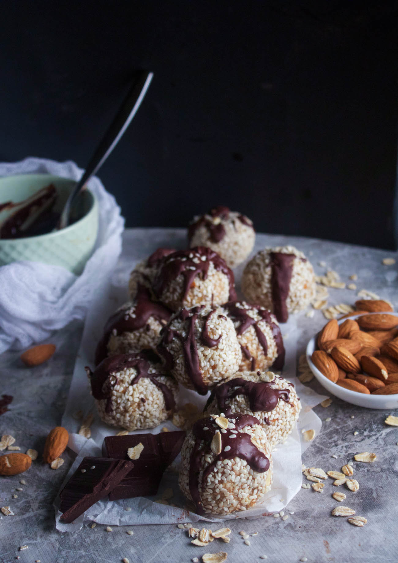 10 Minute Salted Almond + Honey Snack Bites