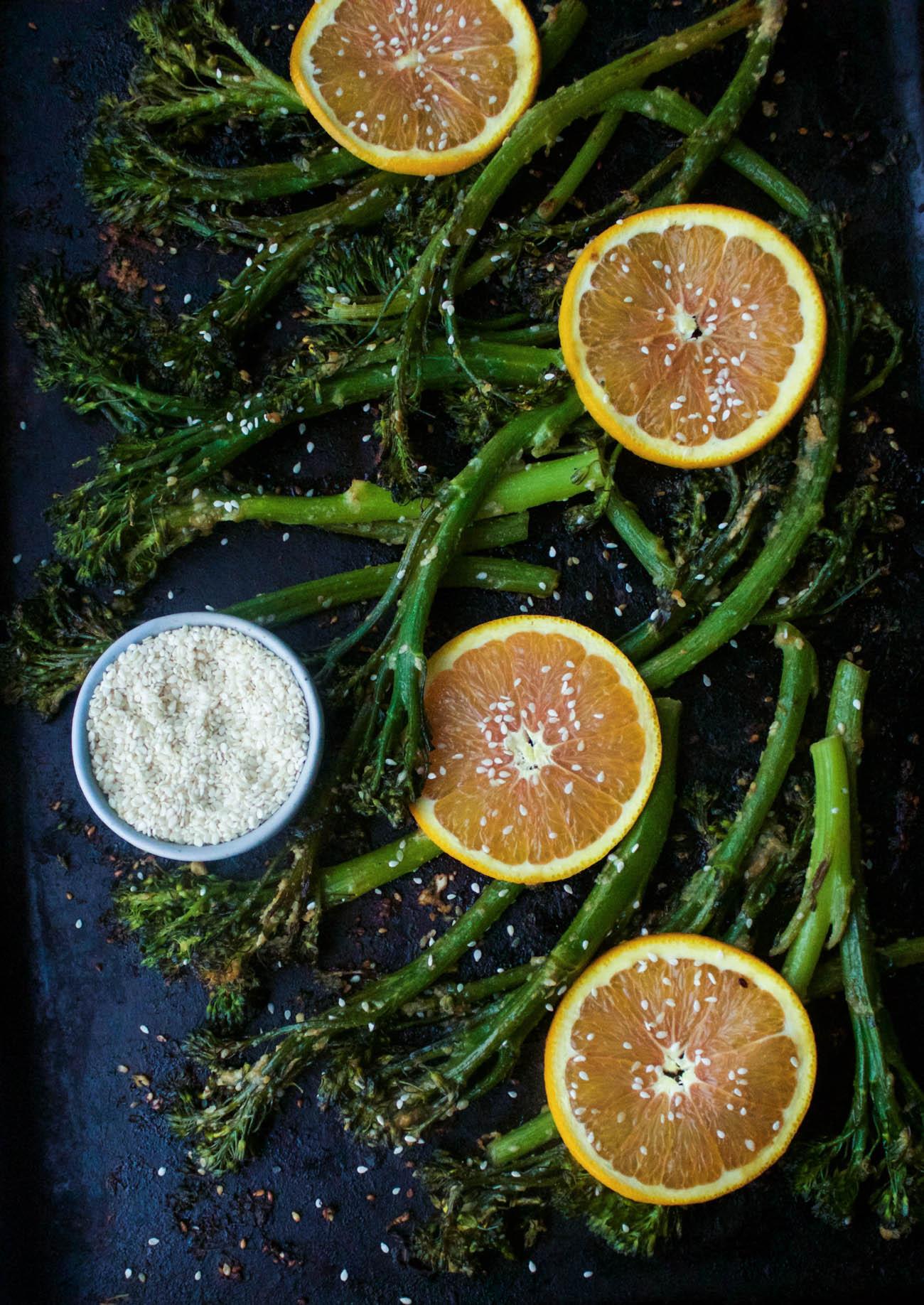 Miso-Sesame Roasted Broccolini