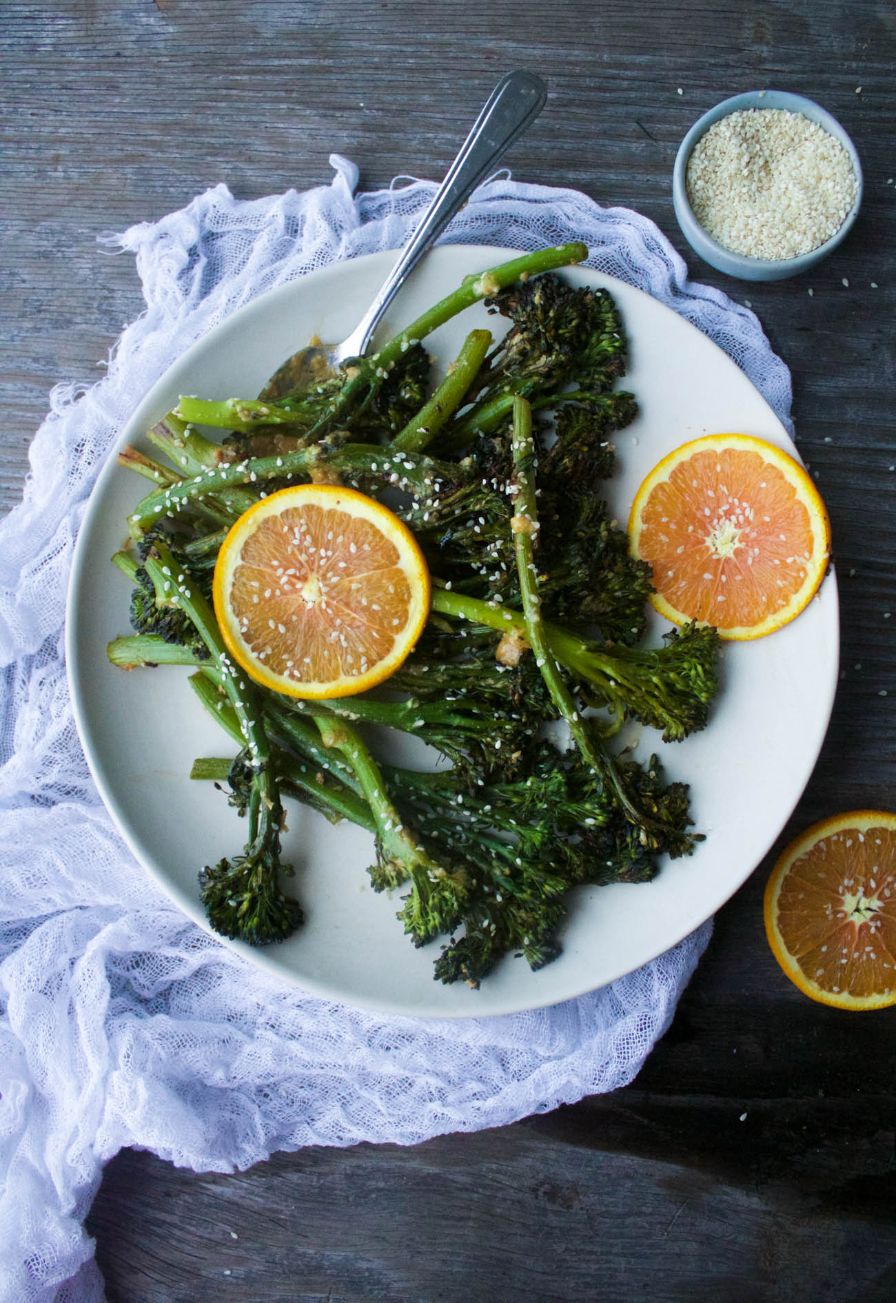 Miso-Sesame Roasted Broccolini