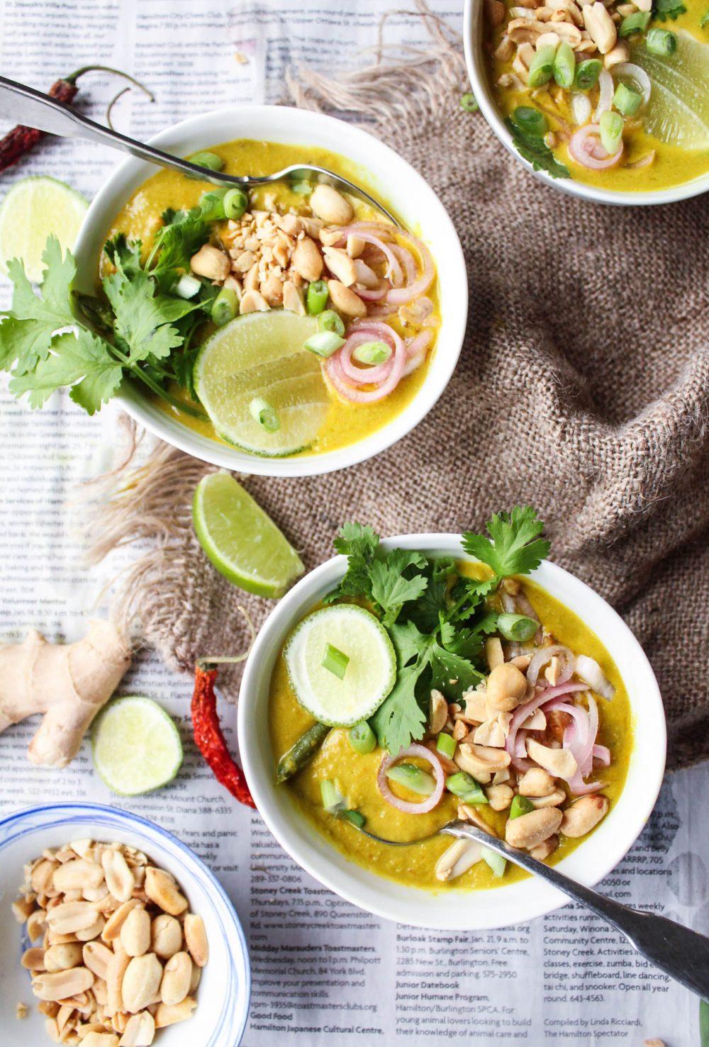 Vegan Thai Peanut Curry {Massaman}