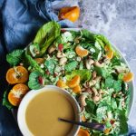 Sesame Ginger Crunch Salad w/ Shredded Brussels Sprouts
