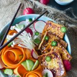 Sticky Soy Bahn Mi Bowls with Quick Pickles + Toasted Sesame Tahini