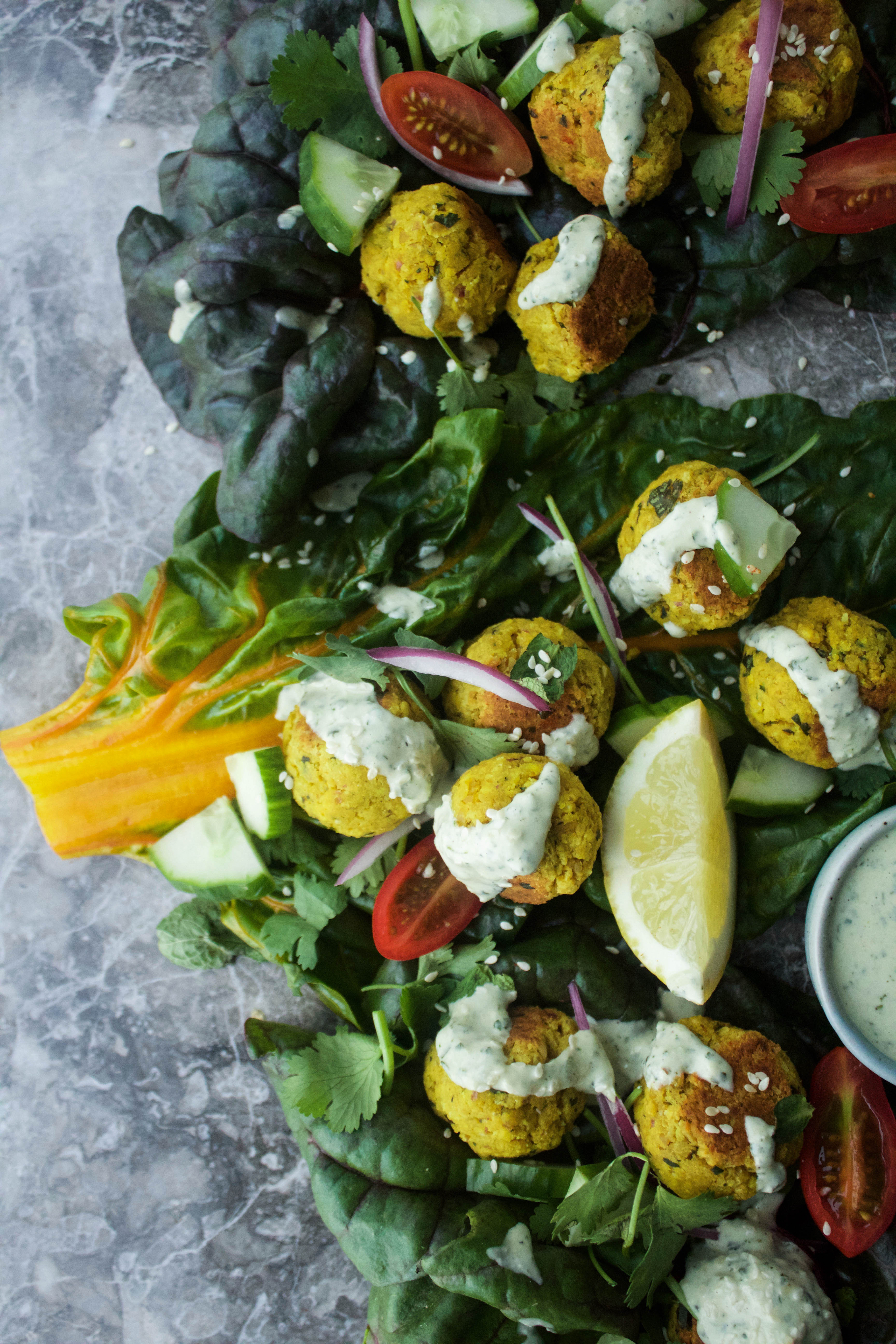 Easy Baked Turmeric Falafels | EARTH & OVEN