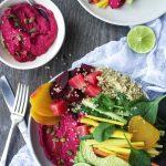 Sarah B's Rainbow Hummus Bowls