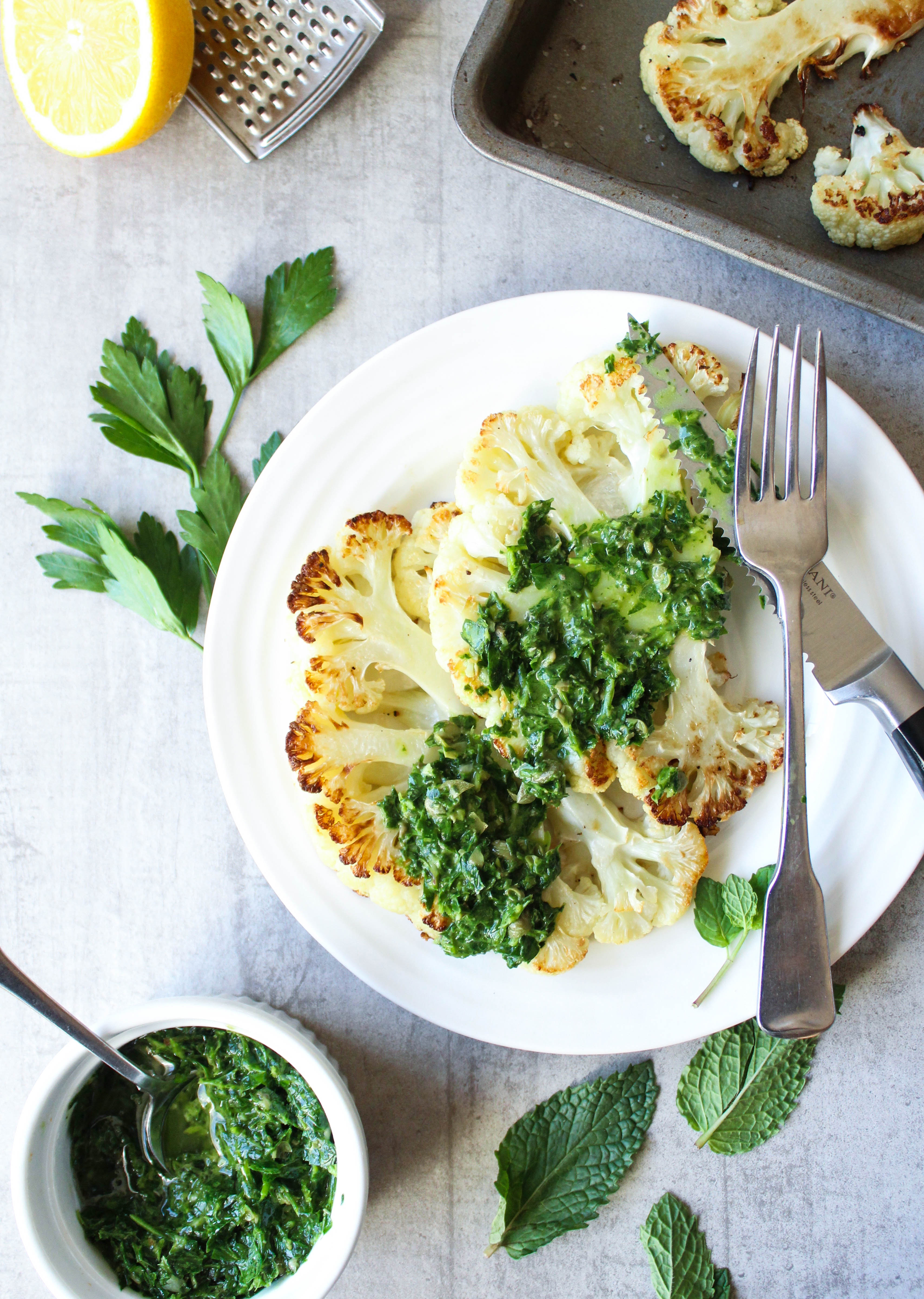 How To Make The Perfect Cauliflower Steak {with salsa verde}   EARTH & OVEN