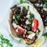 Aubergine + Chickpea Sabich (Middle Eastern Stuffed Pitas)
