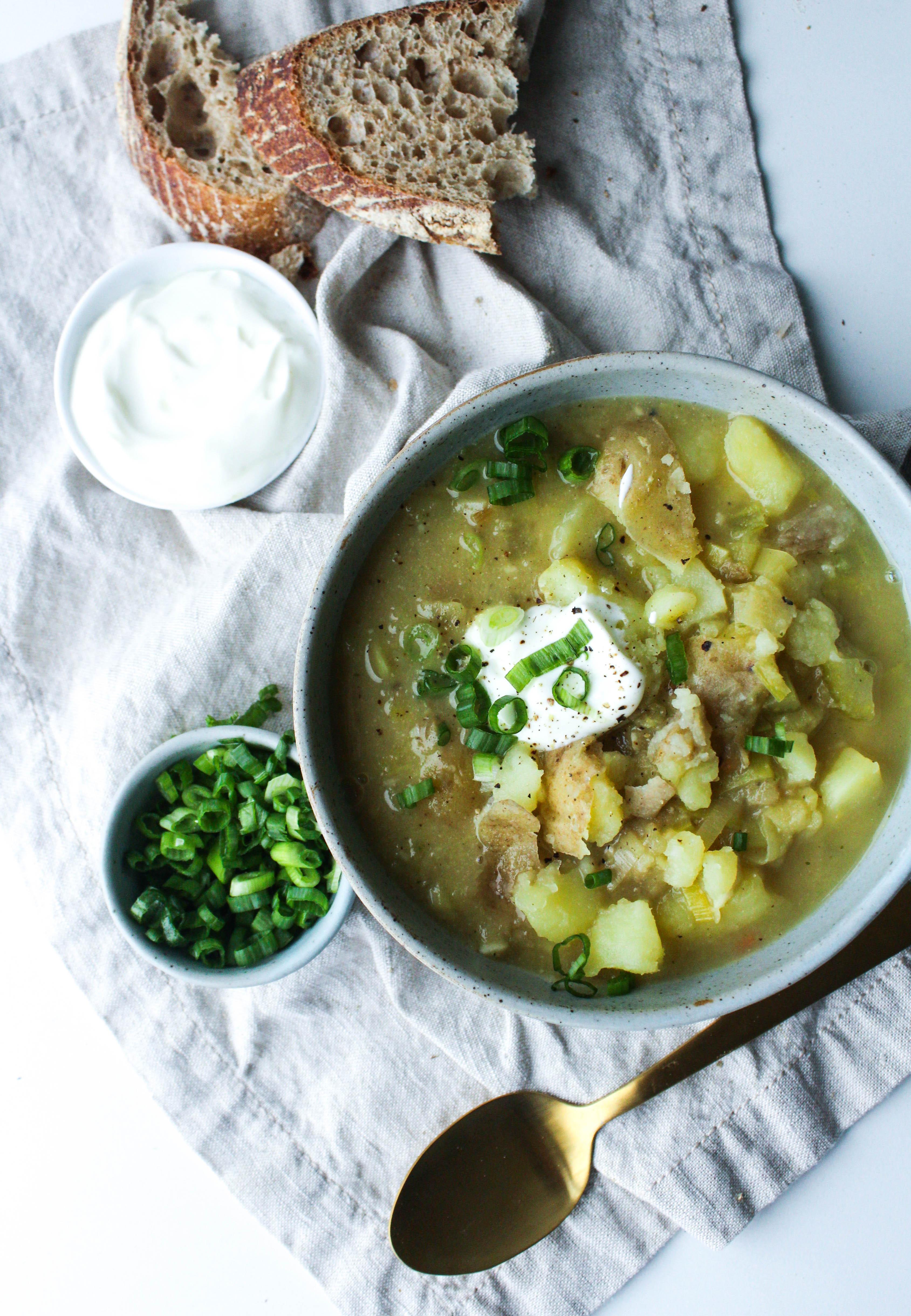Creamy Leek, Miso & Potato Soup