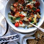 Baked Feta Meze With Charred Tomatoes & Capers