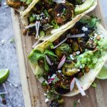 Blackened Brussels Sprouts Tacos