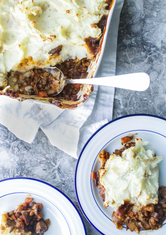 Vegetable Shepherds Pie w/ Porcini Mushrooms   Earth & Oven