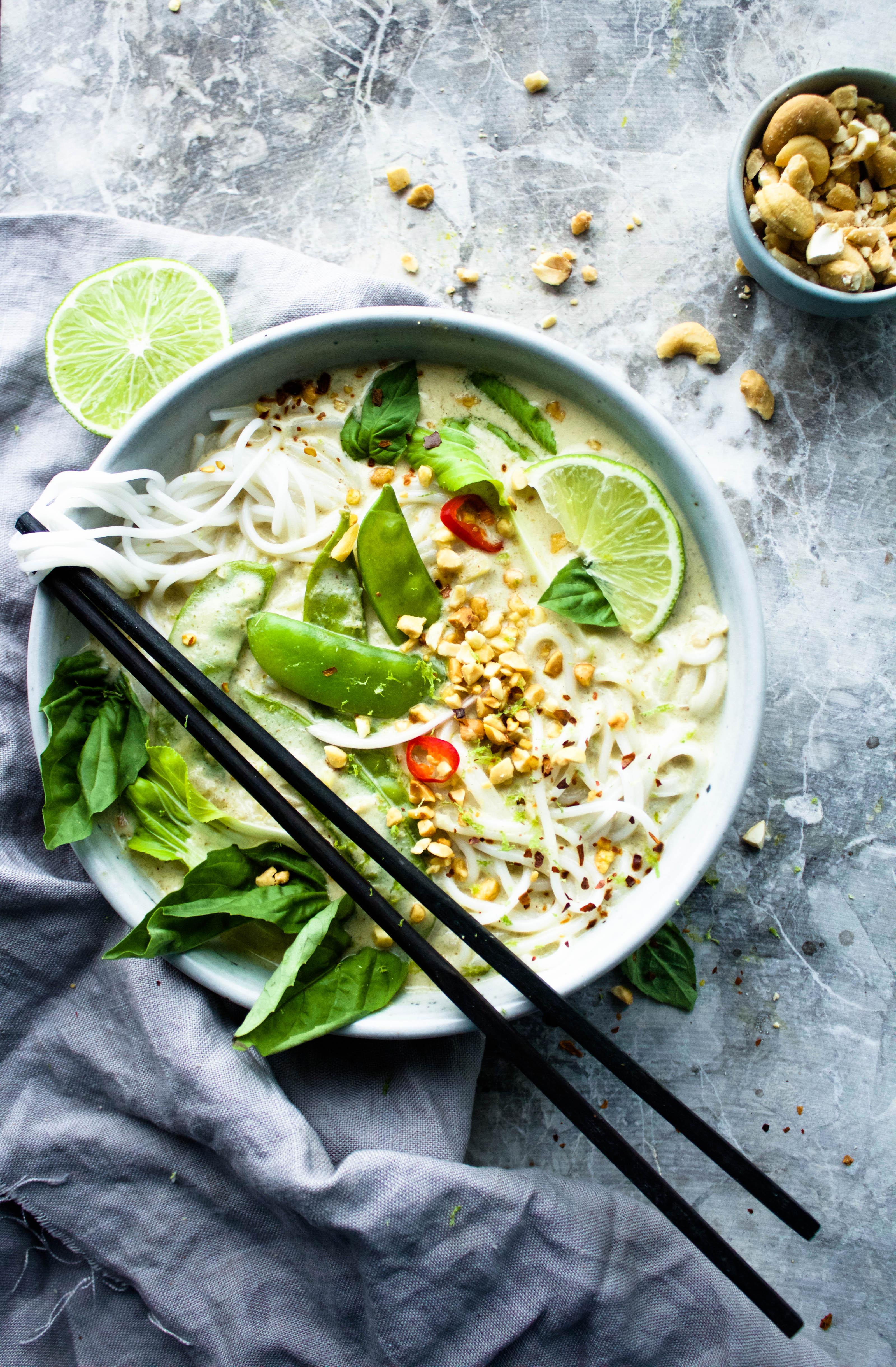 The Creamiest Vegan Thai Green Curry | Earth & Oven