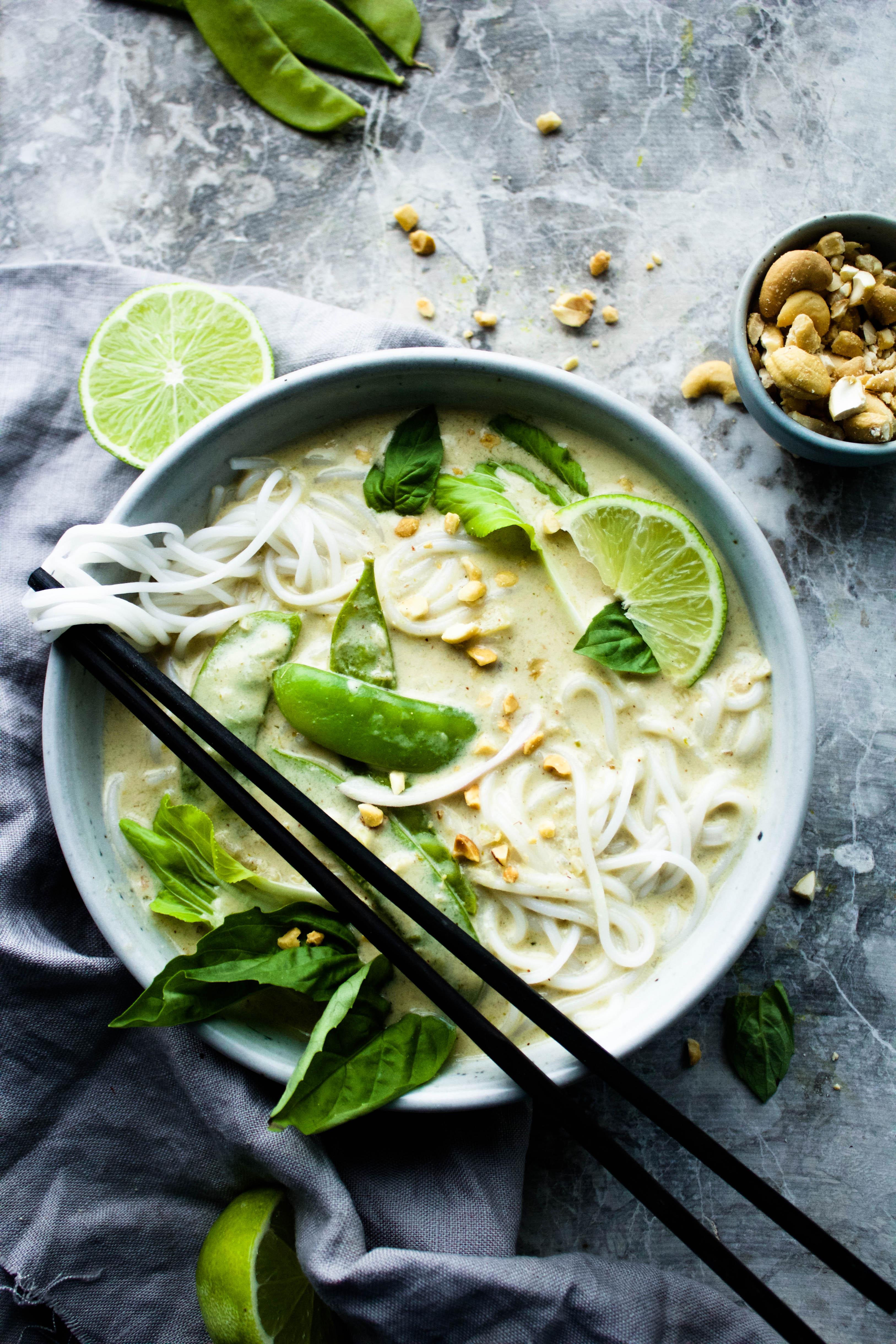 The Creamiest Vegan Thai Green Curry