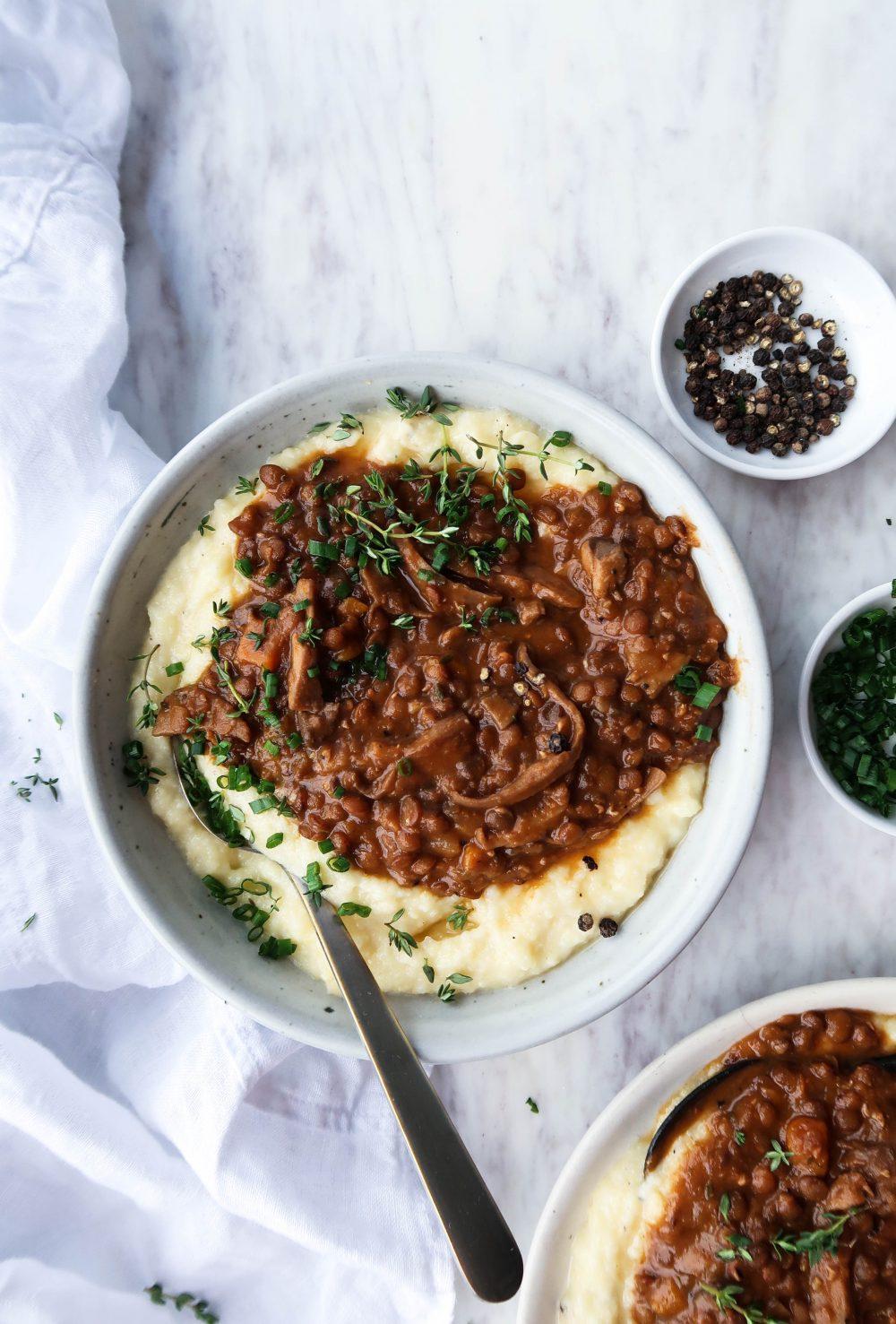 Slow Cooker Mushroom & Lentil Stew-2