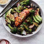 {20 Minute} Miso-Glazed Salmon & Crispy Broccoli